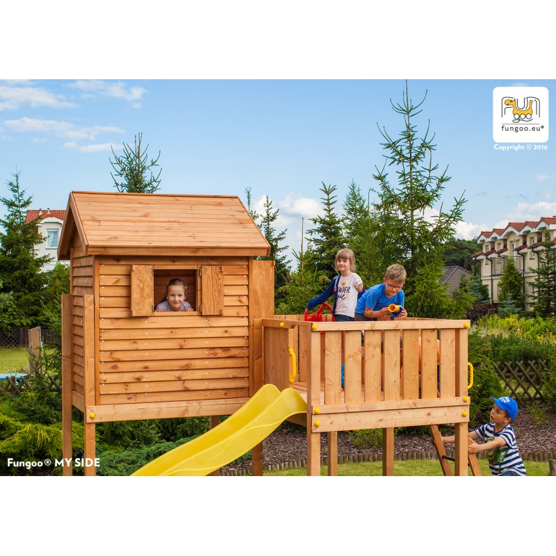 aire de jeux pour enfants en bois s ch lasur myside spider fungoo. Black Bedroom Furniture Sets. Home Design Ideas