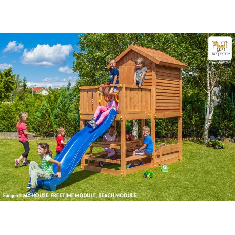 aire de jeux en bois pour enfants my house free time beach fungoo. Black Bedroom Furniture Sets. Home Design Ideas